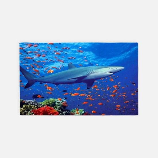 Colorful Shark Area Rug