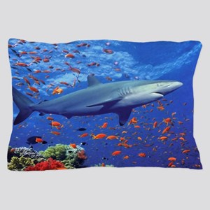Colorful Shark Pillow Case