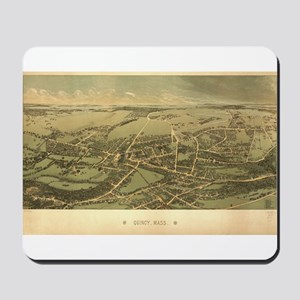 Antique US Maps Quincy, MA 18 Mousepad