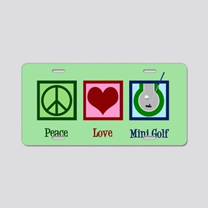 Cute Mini Golf Aluminum License Plate