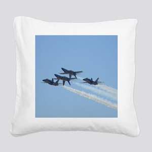 Blue Angels over Texas Square Canvas Pillow