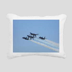 Blue Angels over Texas Rectangular Canvas Pillow
