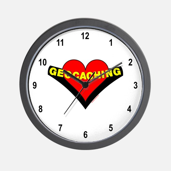 Geocaching Heart Wall Clock