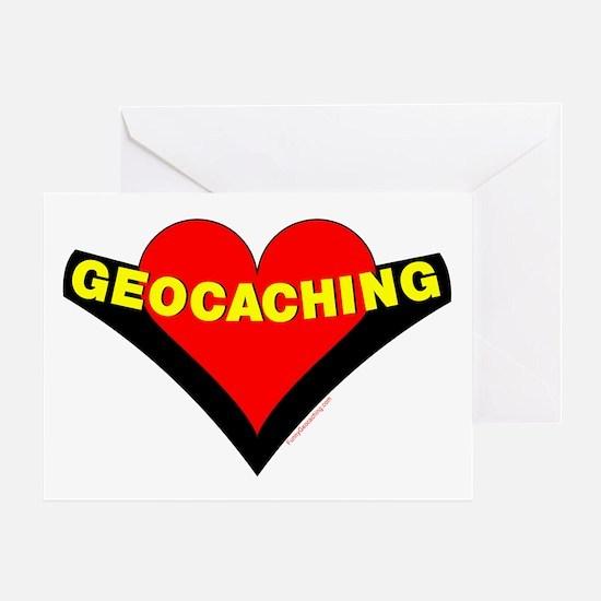 Geocaching Heart Greeting Card