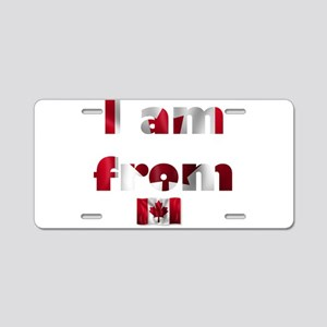 I am from Canada Aluminum License Plate