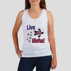 Live Aloha! Hawaii Women's Tank Top