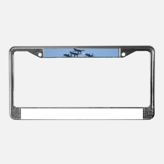 Blue Angels over Texas License Plate Frame