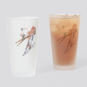 Cliff Jump Drinking Glass