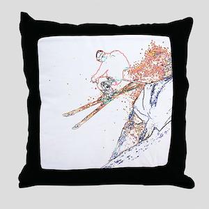 Cliff Jump Throw Pillow