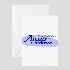 ANGELS EMBRACE Greeting Cards