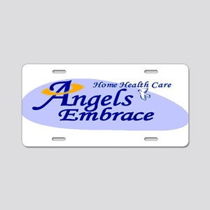 ANGELS EMBRACE Aluminum License Plate