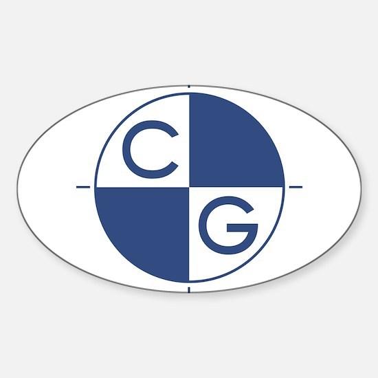 Cute Center of gravity Sticker (Oval 10 pk)