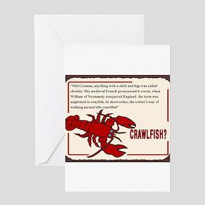 Crawfish History Greeting Cards