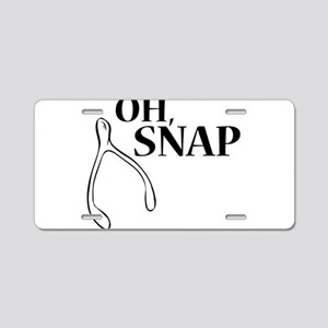 Oh, Snap Thanksgiving Wishb Aluminum License Plate
