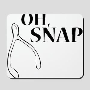 Oh, Snap Thanksgiving Wishbone Mousepad