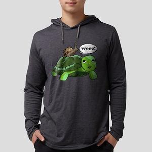 Snail Riding Turtle Mens Hooded Shirt