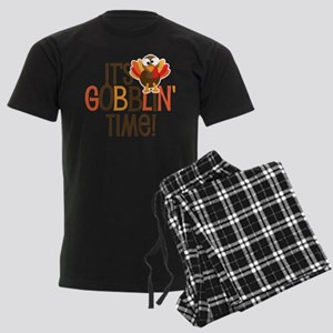 It's Gobblin' Time! Men's Dark Pajamas
