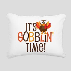 It's Gobblin' Time! Rectangular Canvas Pillow