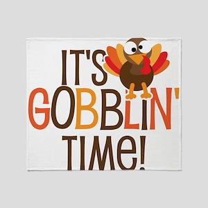 It's Gobblin' Time! Throw Blanket