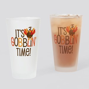 It's Gobblin' Time! Drinking Glass