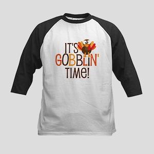 It's Gobblin' Time! Kids Baseball Jersey