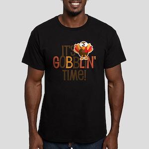 It's Gobblin' Time! Men's Fitted T-Shirt (dark)