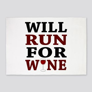 Will Run For Wine 5'x7'Area Rug