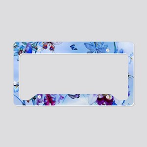 Vintage Butterflies, Orchids  License Plate Holder