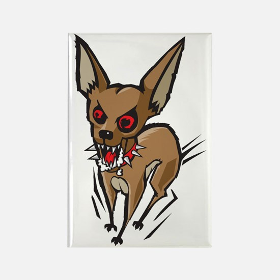 Loco Chihuahua Rectangle Magnet