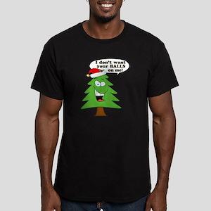 Christmas Tree Harassm Men's Fitted T-Shirt (dark)