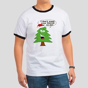 Christmas Tree Harassment Ringer T