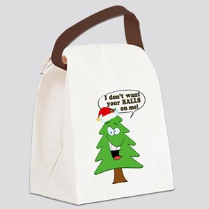 Christmas Tree Harassment Canvas Lunch Bag
