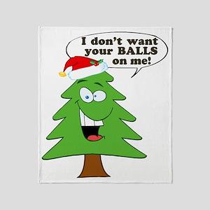 Christmas Tree Harassment Throw Blanket