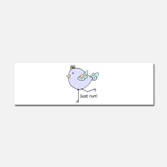 Just Run Runner's Quote Cute Running Bird for Moti