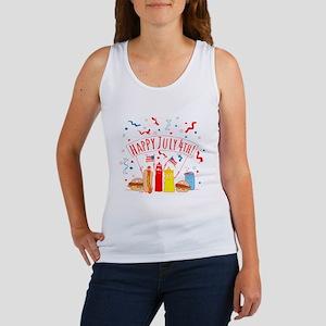 Happy July 4th Picnic Women's Tank Top