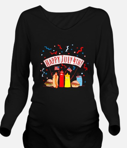 Happy July 4th Picni Long Sleeve Maternity T-Shirt