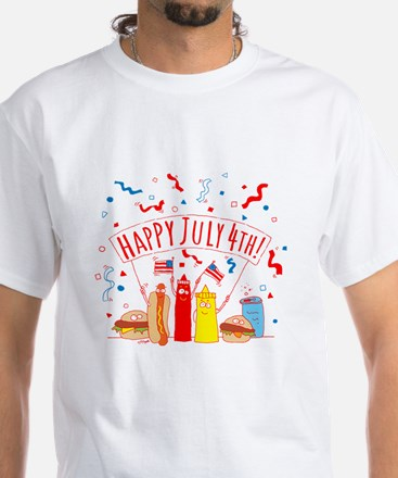 Happy July 4th Picnic White T-Shirt
