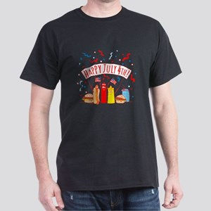 Happy July 4th Picnic Dark T-Shirt