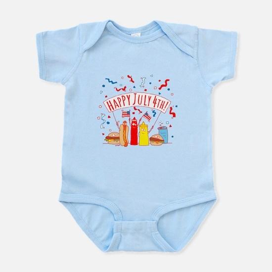 Happy July 4th Picnic Infant Bodysuit