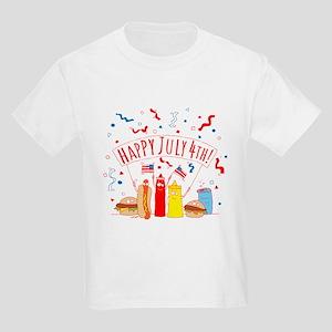 Happy July 4th Picnic Kids Light T-Shirt