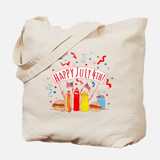 Happy July 4th Picnic Tote Bag