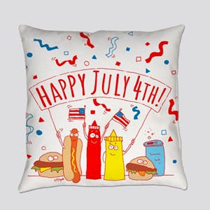 Happy July 4th Picnic Everyday Pillow