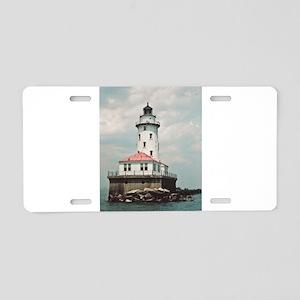 Chicago Navy Pier Lighthouse Aluminum License Plat