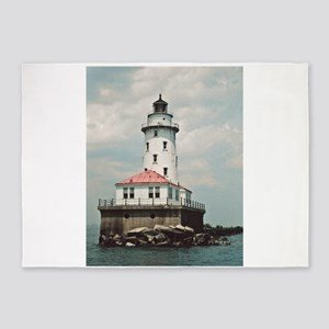 Chicago Navy Pier Lighthouse 5'x7'Area Rug