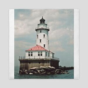 Chicago Navy Pier Lighthouse Queen Duvet