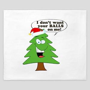 Christmas Tree Harassment King Duvet