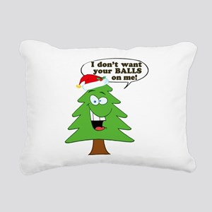 Christmas Tree Harassmen Rectangular Canvas Pillow