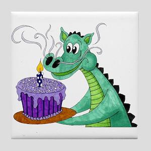 Birthday Dragon Tile Coaster