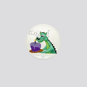 Birthday Dragon Mini Button