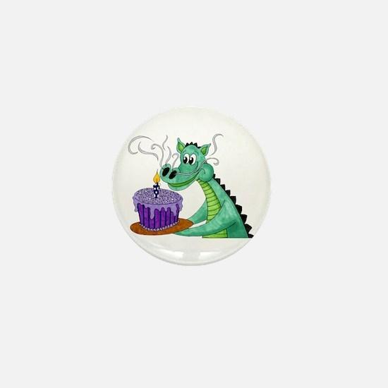Birthday Dragon Mini Button